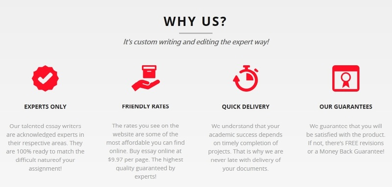 essay expert review Claiming to be an excellent writing service that always provides you with on-time delivery of your content as well as supplying you with a full-range of.