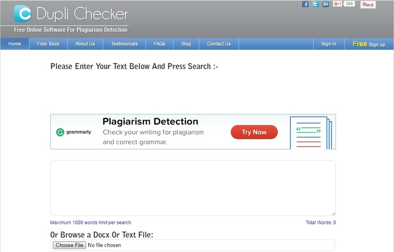plagiarism checker free online no download