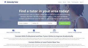 Preview universitytutor review screen